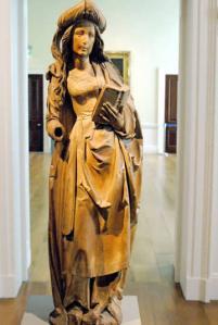Female Saint by Tilman Riemenschneider (c.1515; limewood; Compton Verney)