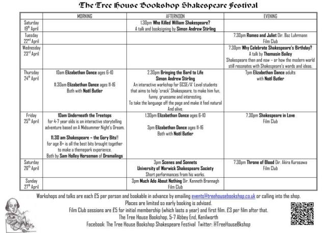 Shakespeare schedule