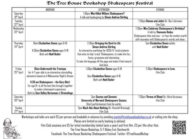 Shakespeare schedule
