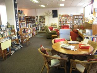 Sofas, armchairs, a table for tea or laptops