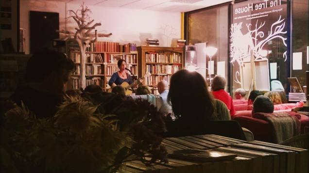 Ange Hardy at the old Tree House - another chance to hear her in Kenilworth this September!